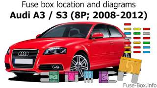 Fuse box location and diagrams: Audi A3 / S3 (8P; 2008-2012) - YouTube