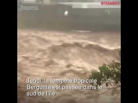 La tempête Berguitta a frappé l'île de la Réunion