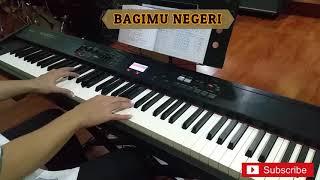 Gambar cover Bagimu Negeri piano cover - instrumental by junfarabi