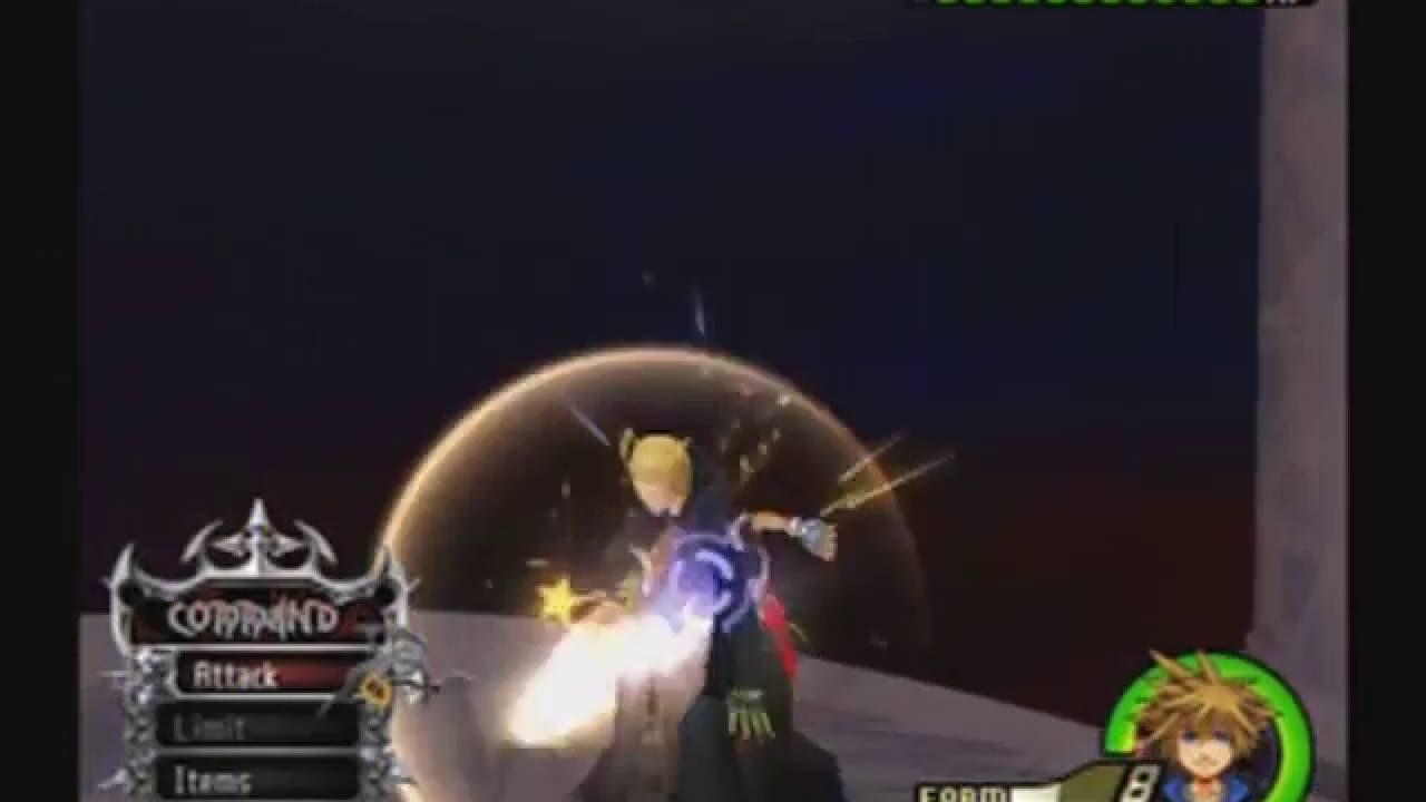 Kingdom Hearts 2 Final Mix Level 1 Limit Form Sora vs Data Larxene ...