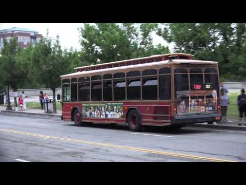 RIPTA GILLIG ADVANTAGE TROLLY BUS 1008 IN DOWNTOWN PROVIDENCE RI ON THE  92