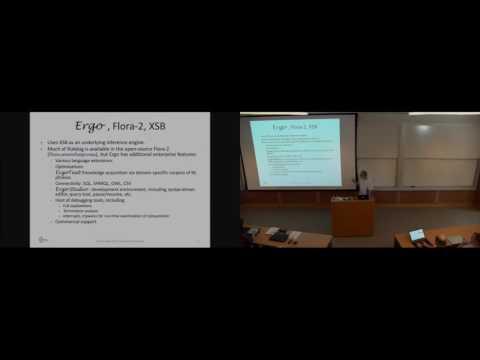 Michael Kifer. Practical Knowledge Representation and Reasoning in Ergo.