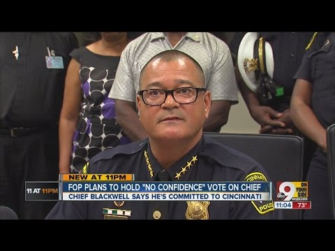 Cincinnati Police Chief Jeffrey Blackwell faces possible no-confidence vote from FOP