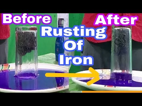Oxygen Is Necessary For Rusting Of Iron Explained With Experiment
