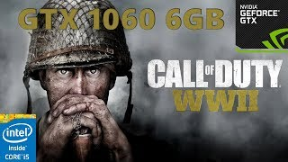 Call of Duty: WWII gameplay i5 4460 / GTX 1060 6GB