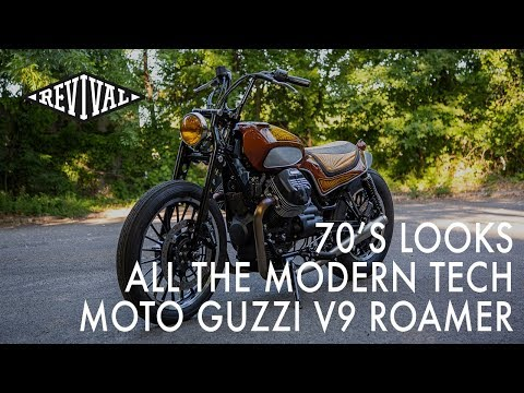70's style custom Moto Guzzi V9 Roamer - An interview with Andy James
