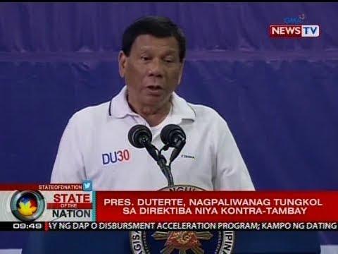 SONA: Pres. Duterte, nagpaliwanag tungkol sa direktiba niya kontra-tambay