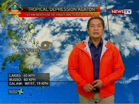 Bagyong Agaton, nananalasa sa Mindanao ngayong unang araw ng 2018