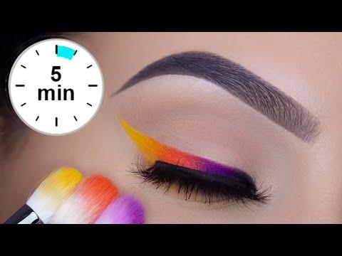 SUPER EASY 5 MINUTE Colorful Eye Liner Tutorial | PRIDE Makeup thumbnail