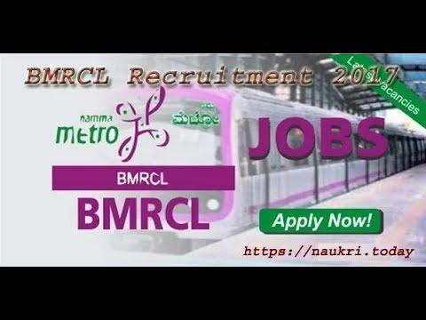 Bangalore Metro Rail Corporation Limited BMRCL Recruitment 2017