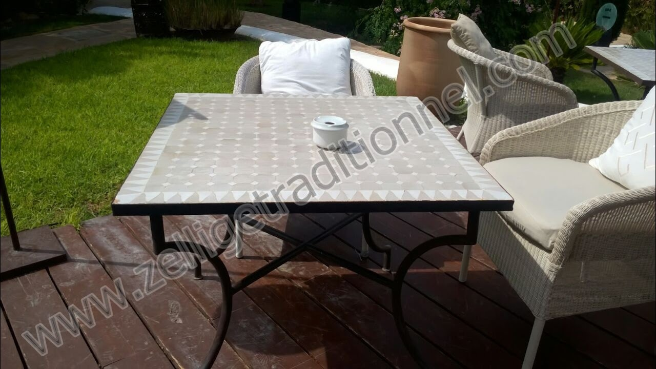 Table De Jardin Mosaique Pas Cher | Collection De Petit Table Salon ...