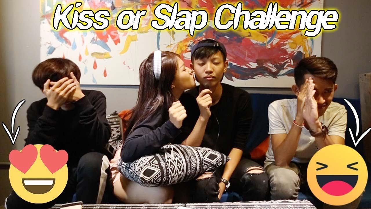 Mina ថេីប Seak LeeMinho ហាហា – Kiss Or Slap Challenge