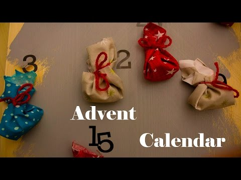 Advent calendar DIY Holiday decor for Christmas - 1st day of Christmas decor