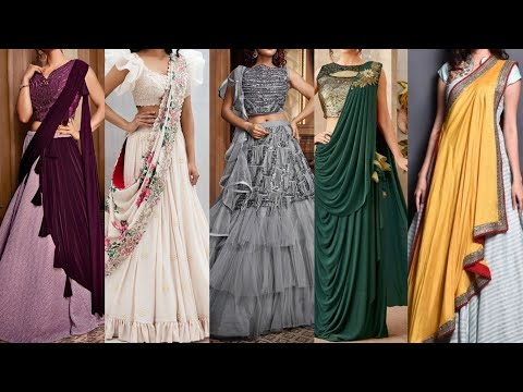 Outstanding Indo Western Dresses For Girls  Unique Lehenga Design For  Party/Wedding/Function 2020