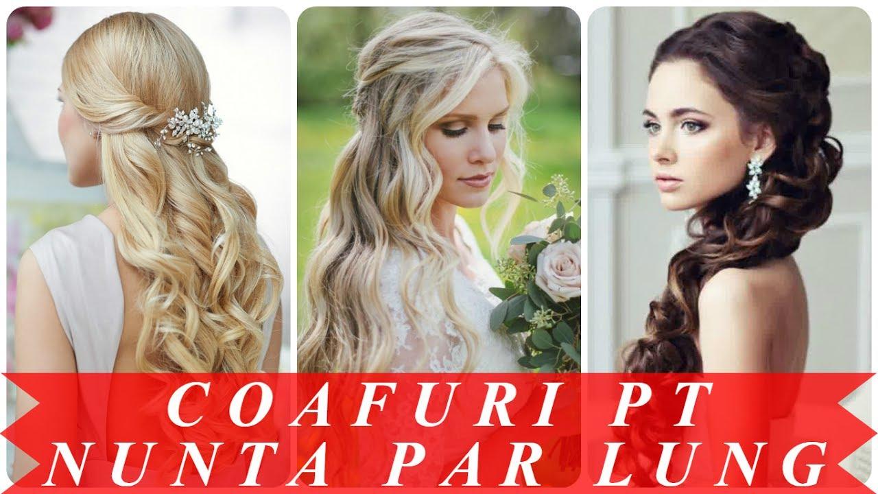 Modele Coafuri Par Lung Pentru Nunta Youtube