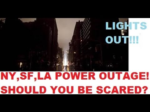 NEW YORK, SAN FRANCISCO & LOS ANGELES POWER OUTAGE!!!