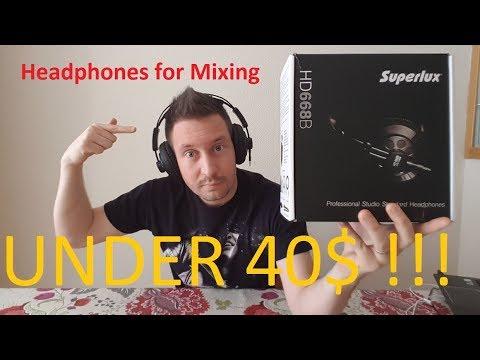 Best Headphones for Mixing under 40$ (Superlux HD668B)