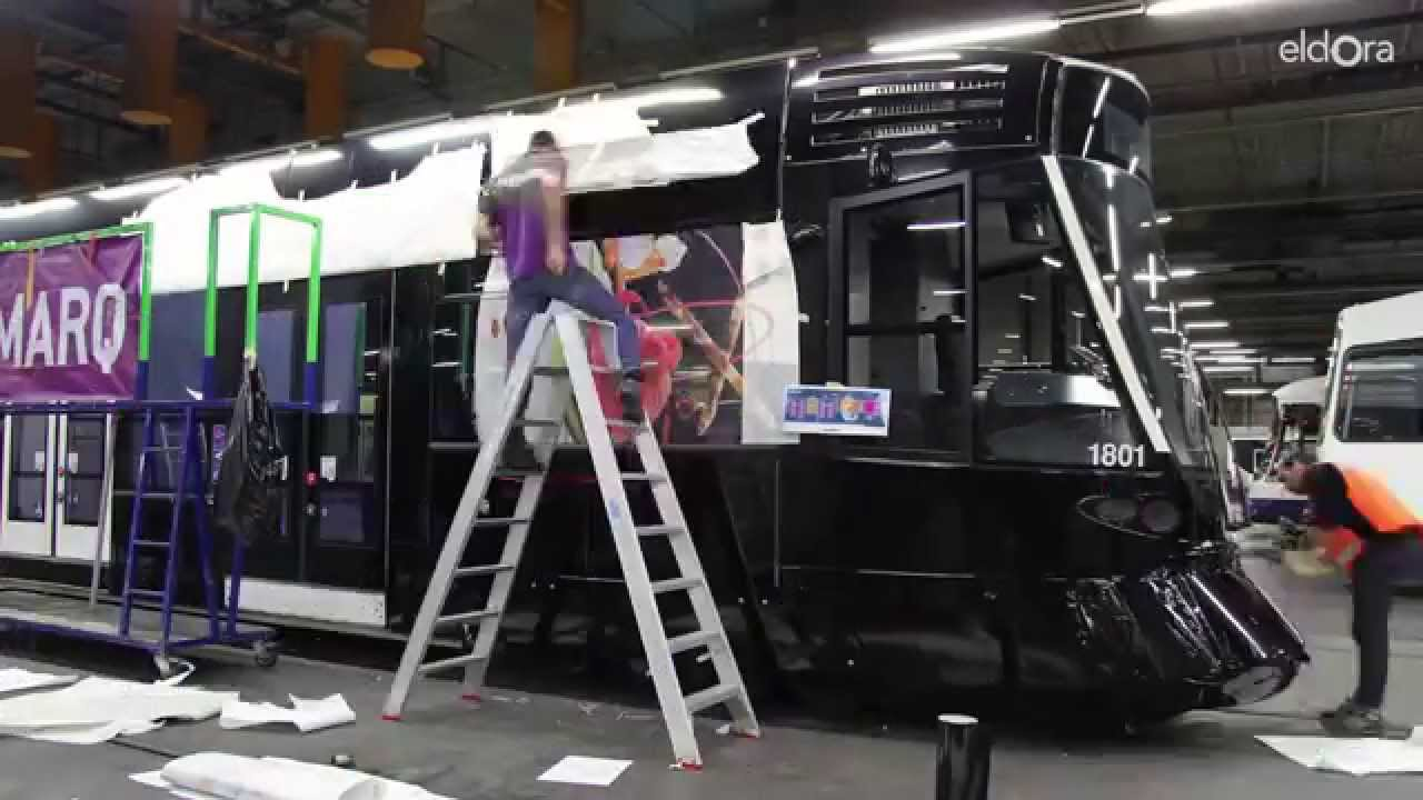 Making-of de l'habillage du tram Eldora