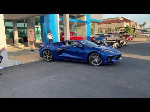 2020 Corvette Filmed Leaving Showroom, Backing Into Parking Spot