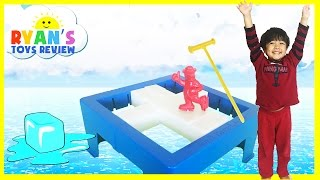 DON'T BREAK THE ICE Challenge Family Fun Board games for kids Egg Surprise Toys Ryan ToysReview