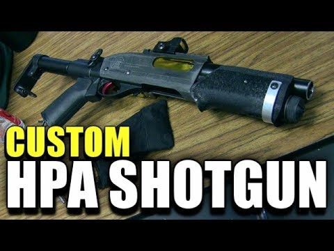 Custom HPA Airsoft Shotgun With Internal Tracer Unit!