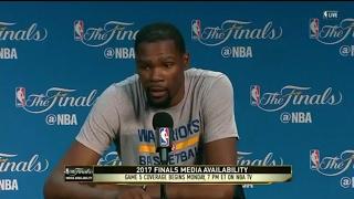 Kevin Durant - Media Availability - Game 5 | Cavaliers vs Warrriors | June 11, 2017 | NBA Finals