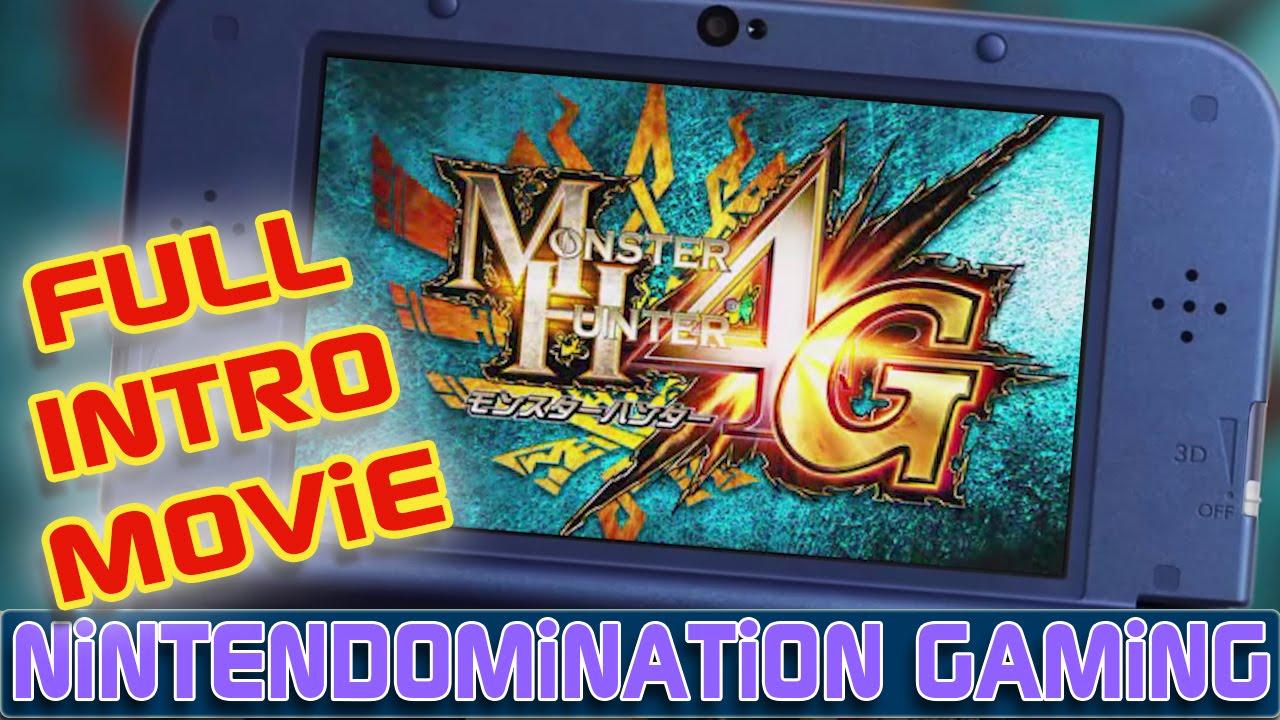 3DS - Monster Hunter 4G - FULL INTRO Movie