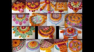 16 Non Stop Best Flower Decorations Ideas/ Flower Rangoli Designs