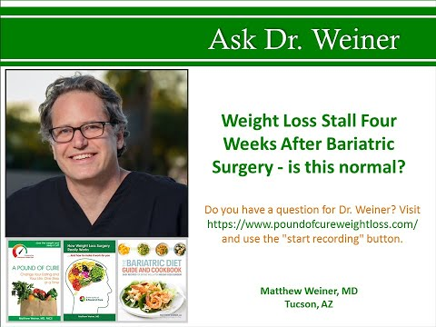 Weight Loss Stall Four Weeks After Bariatric Surgery is this normal?