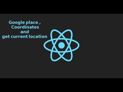 React Js tutorial - use google place and get coordinates
