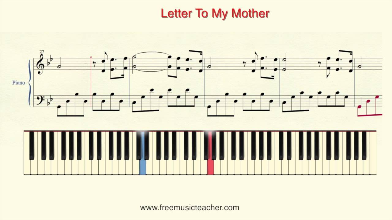 how to play piano richard clayderman letter to my mother piano tutorial by ramin yousefi