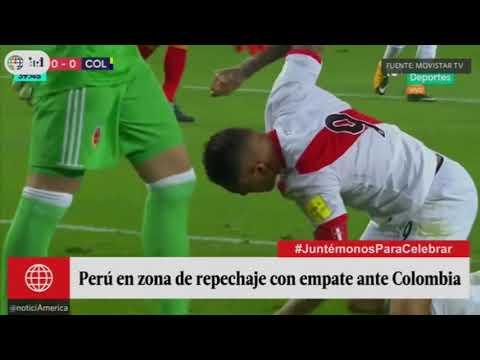 America Television Perú vs Colombia ,A ras de cancha ,  Declaraciones de jugadores