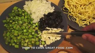 Simple Asparagus Pasta Recipe - Linguine Olives