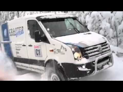 volkswagen crafter 4x4 offroad in snow youtube