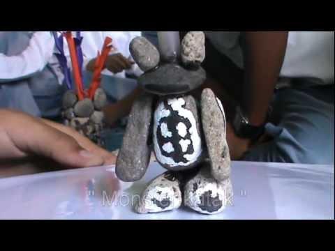 KBM Seni rupa, Patung dari Batu kerikil (1) - YouTube