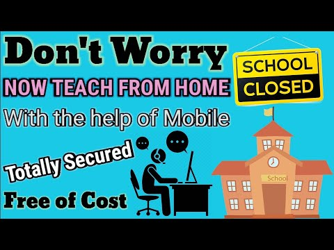 How To Teach Online Classes From Home | Free Online Teaching App | For Teachers | On Mobile.