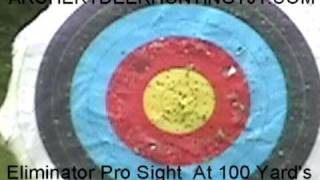 100 yard Archery Target shot with eliminator pro sight with Limbsaver bow and pse arrow