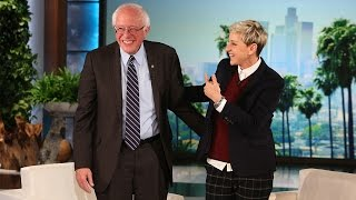 Ellen Sits Down with Bernie Sanders