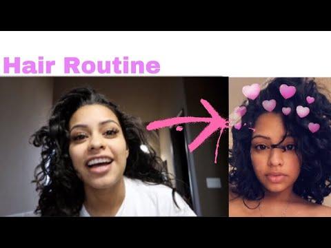 CURLY HAIR ROUTINE!!   CARMEN VLOGS - YouTube