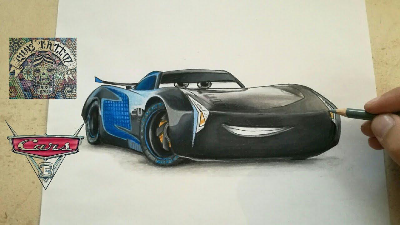 Como Dibujar A Jackson Storm Cars 3 Howw To Draw Jackson Storm