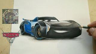 COMO DIBUJAR A JACKSON STORM - CARS 3 / howw to draw jackson storm - cars 3
