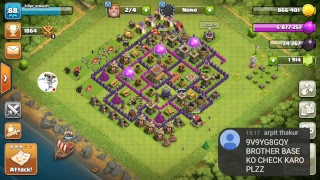 visiting your village and donating troops in Clash of clans...