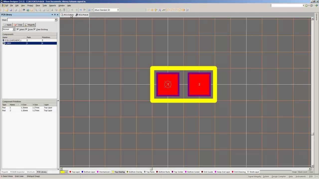 Библиотека резисторов для altium designer