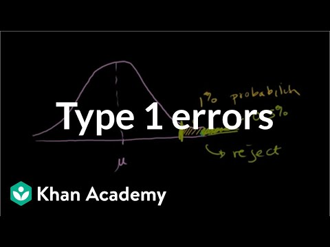 Type 1 errors   Inferential statistics   Probability and Statistics   Khan Academy