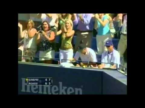 US Open 2005: Agassi - Ginepri (SF) Highlights