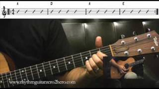 """learn a, d and e chord pairs"""" guitar instructions - learn to play acoustic guitar"""