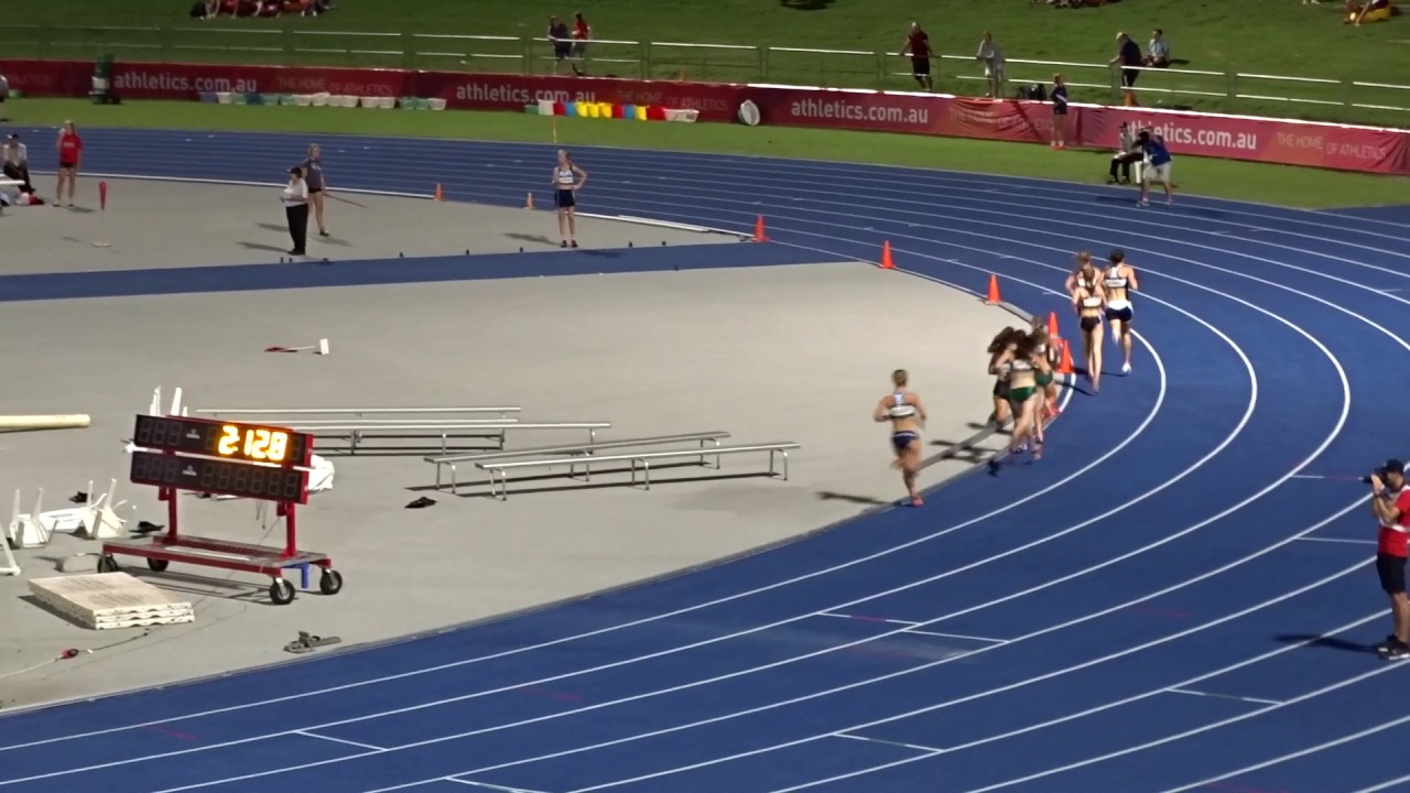 U 18yrs 1500m Women Final Australian Athletics Championships Olympic Park Sydney 27 03 2017