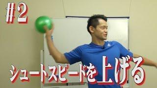 ハンドボールでシュートスピードを上げるトレーニング。その2 投げ方編