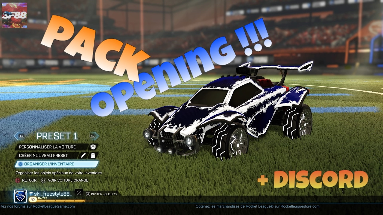 PACK OPENING   Mon discord   ROCKET LEAGUE FR   YouTube