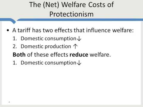 International Trade and Welfare Costs of Tariffs